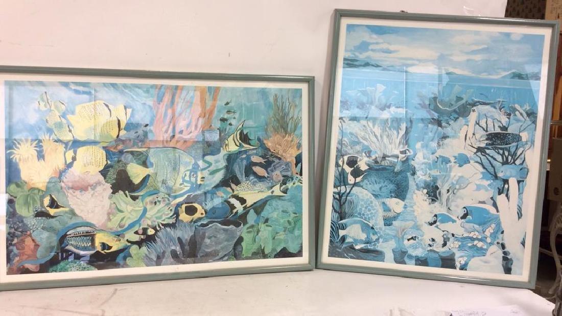 Pair Framed Eileen Seitz Exhibition Poster Prints