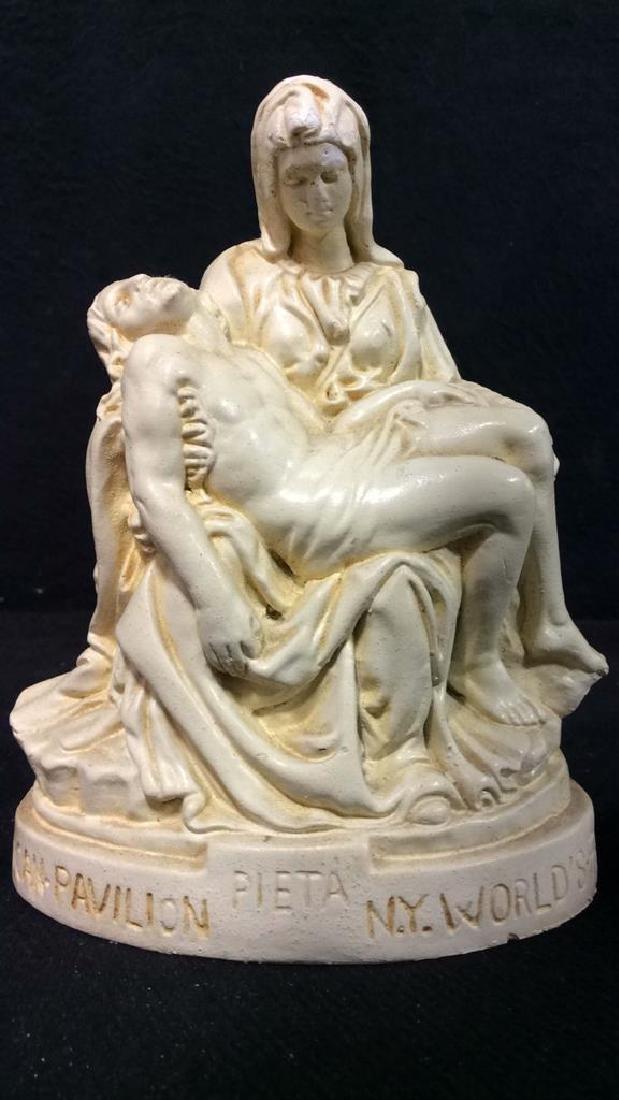 Cream Toned Religious Figural, Pieta World Fair