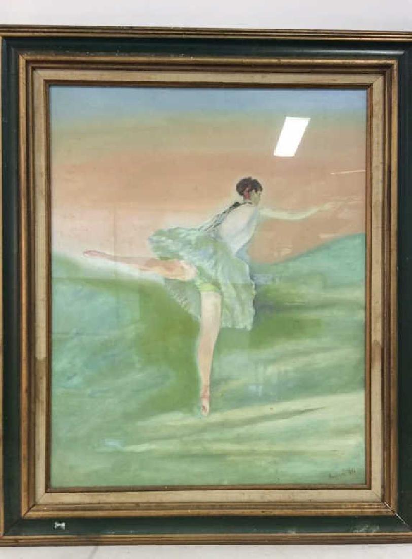 Beuigini Signed Framed Ballerina Painting