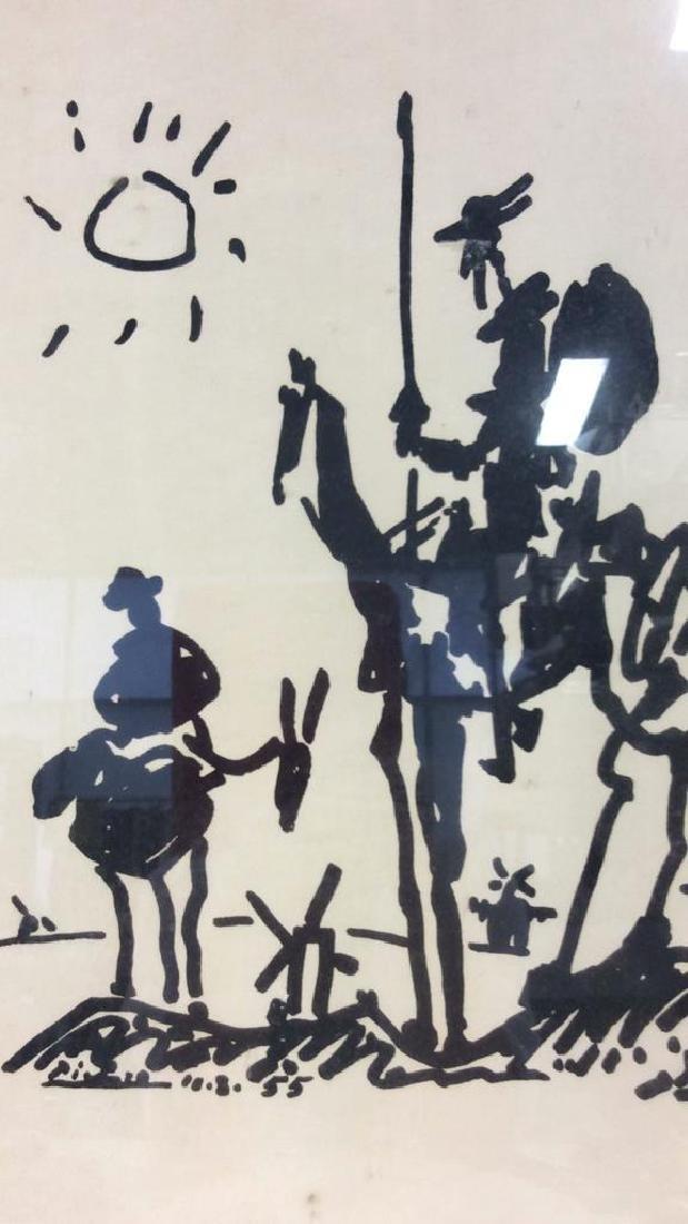 Framed Don Quixote Picasso Art Print