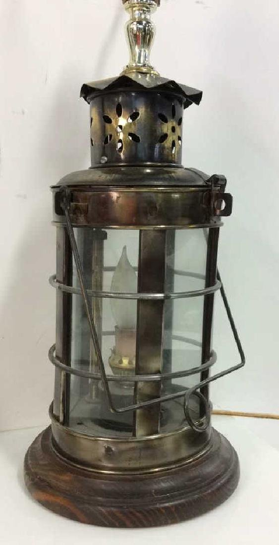 Vintage Style Lantern Bodied Table Lamp