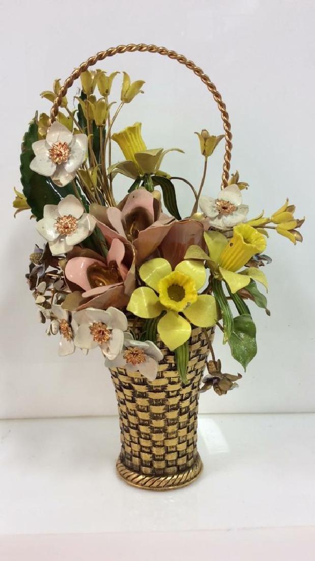Gloria Vanderbilt Painted Metal Floral Bouquet
