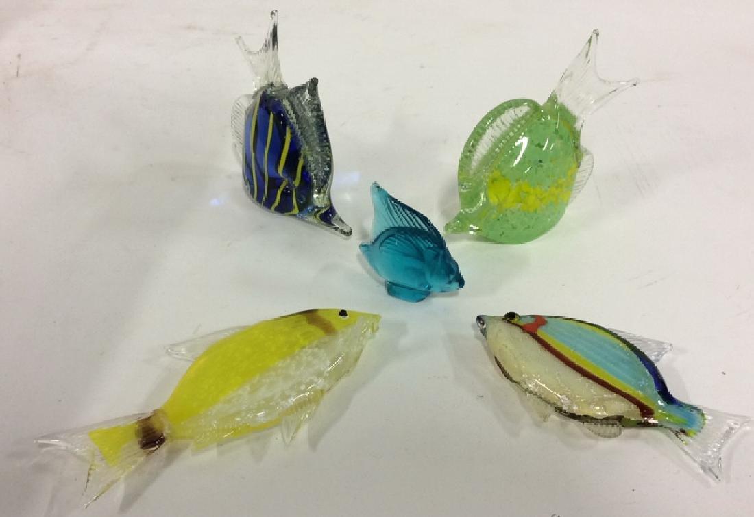 Lot 5 MURANO & LALIQUE Art Glass Fish