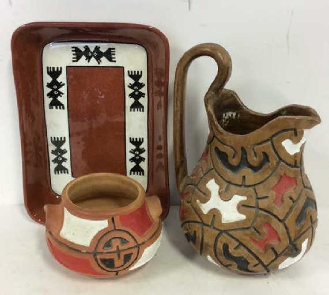 Lot 3 Assorted Ceramic Tabletop Accessories