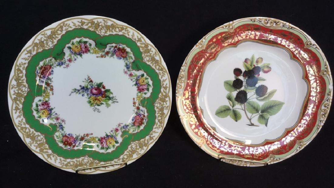 Lot 2 Porcelain Plates Andrea by Sadek