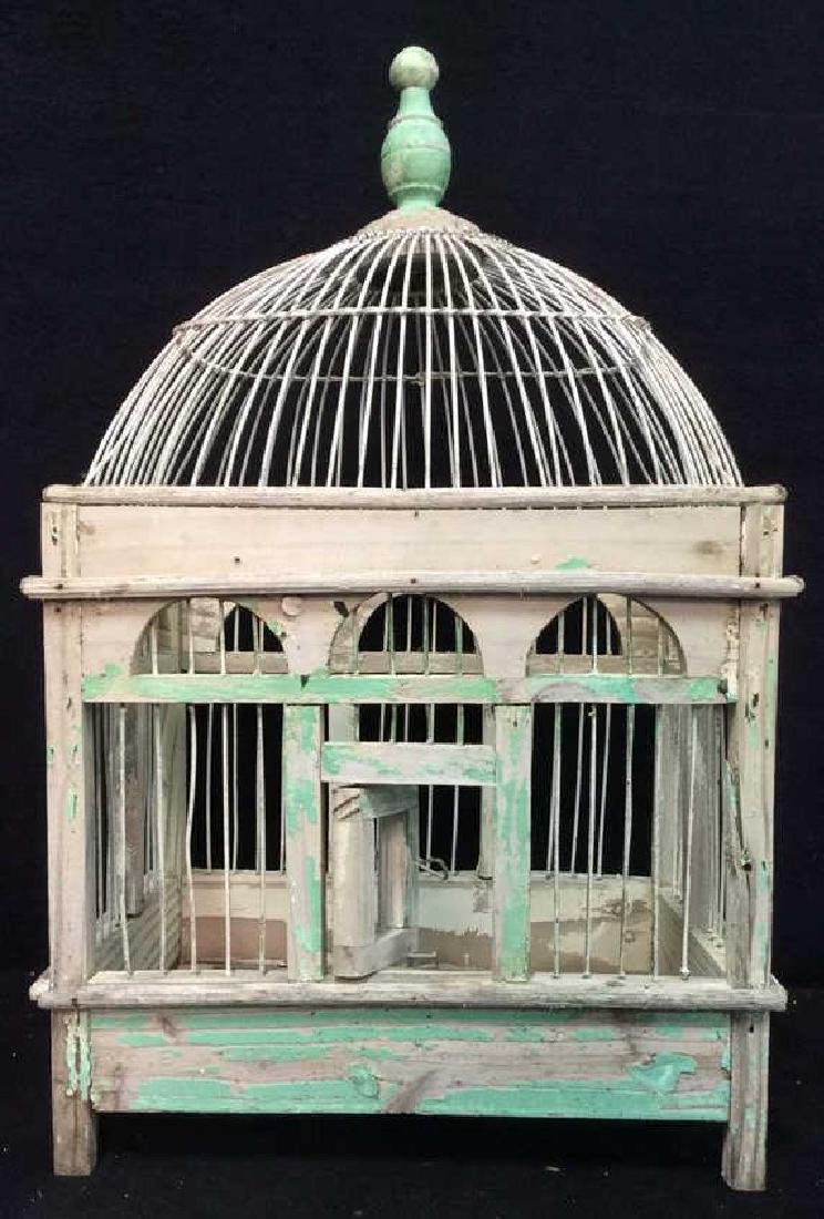Vintage Bird Cage Wooden Bird Cage