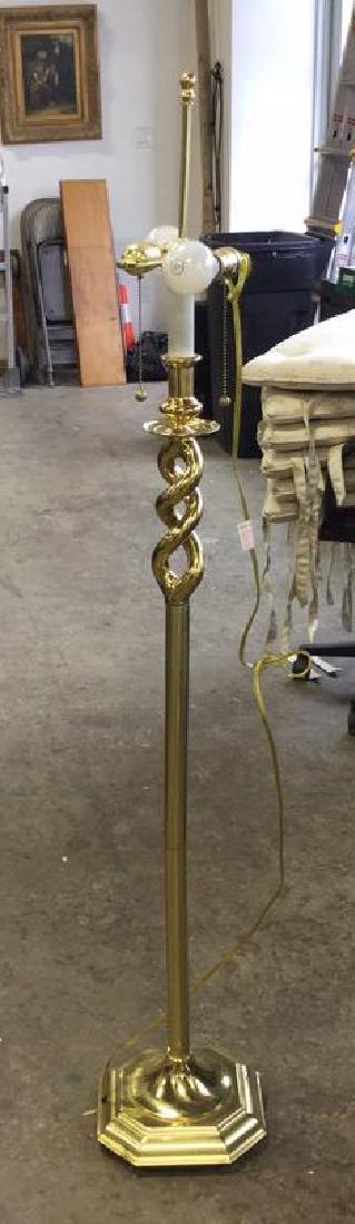 Brass Open Twist Floor Lamp