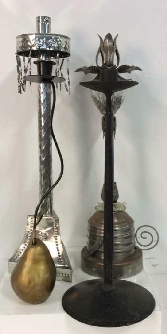 Lot 4 Assorted Metal Decorative Candlesticks