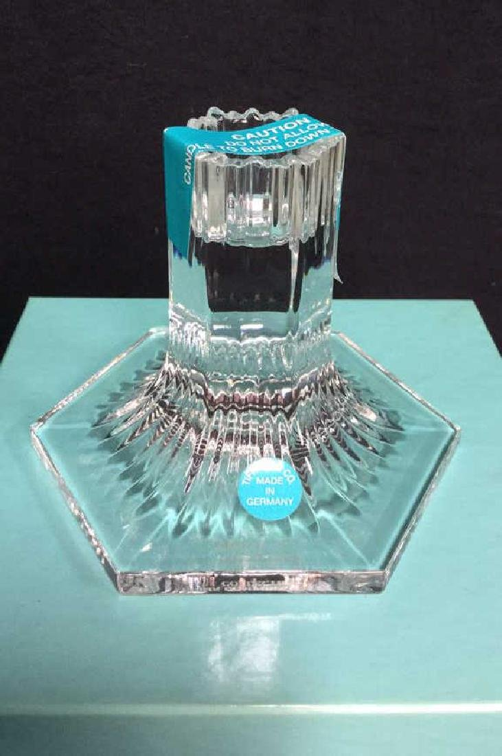 Tiffany & Co Crystal Candlestick Holder w Box New