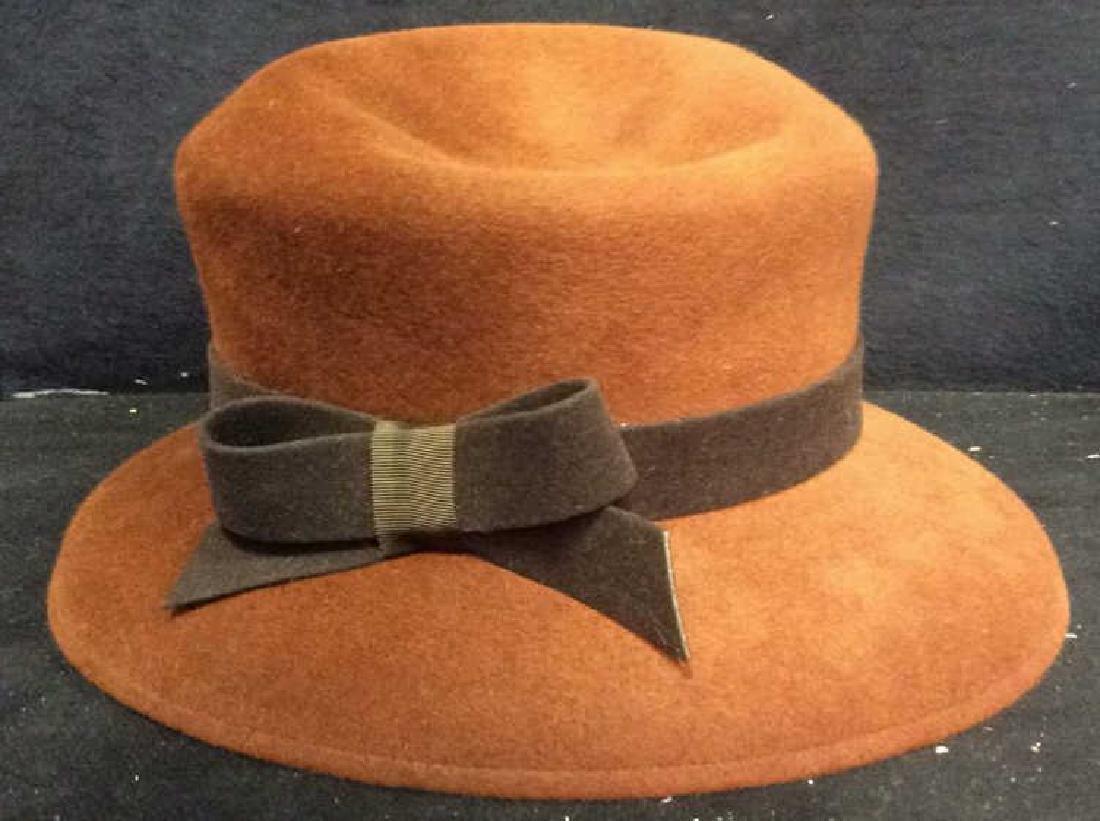 BETWEEN FRIENDS Brown Toned Felt Hat