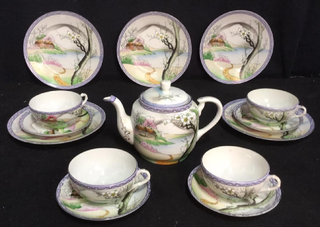 Lot 14 Japanese Hand Painted Porcelain Tea Set