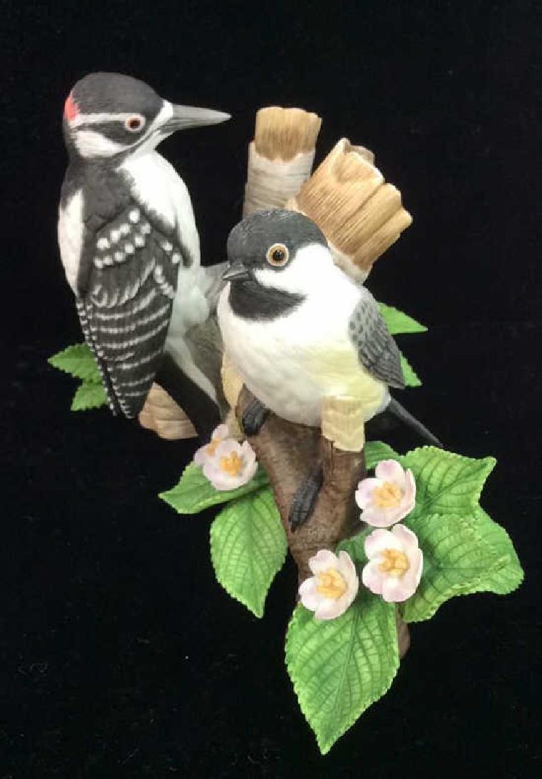 LENOX Fine Porcelain Chickadee&Woodpecker Figurals