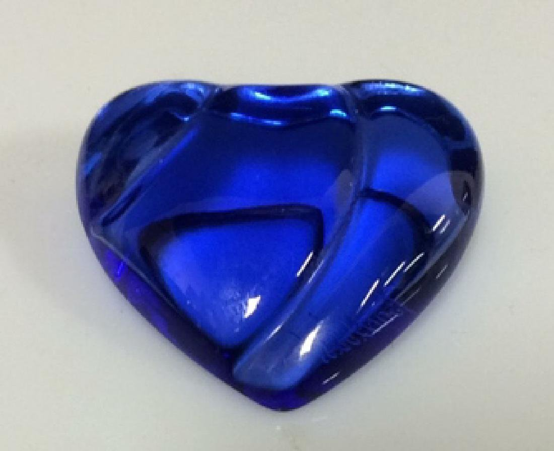 Blue Toned BACCARAT France Heart Pin
