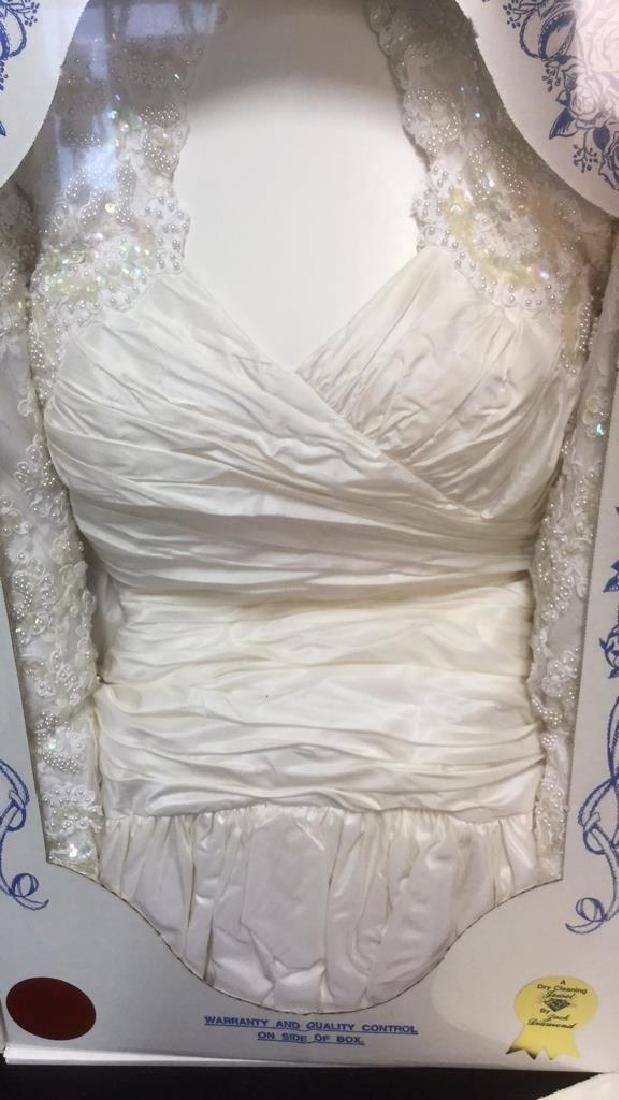 Lot 3 Vintage Vacuum Sealed Wedding Gown And Veil