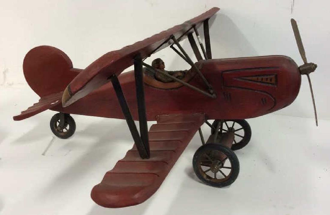 Wood Metal Toy Airplane