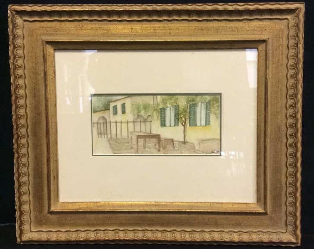 Signed Framed & Matted Watercolor