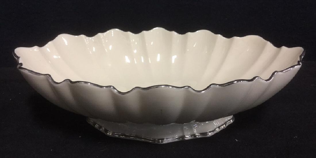 Lenox Porcelain Ceramic Dish With Platinum Edges