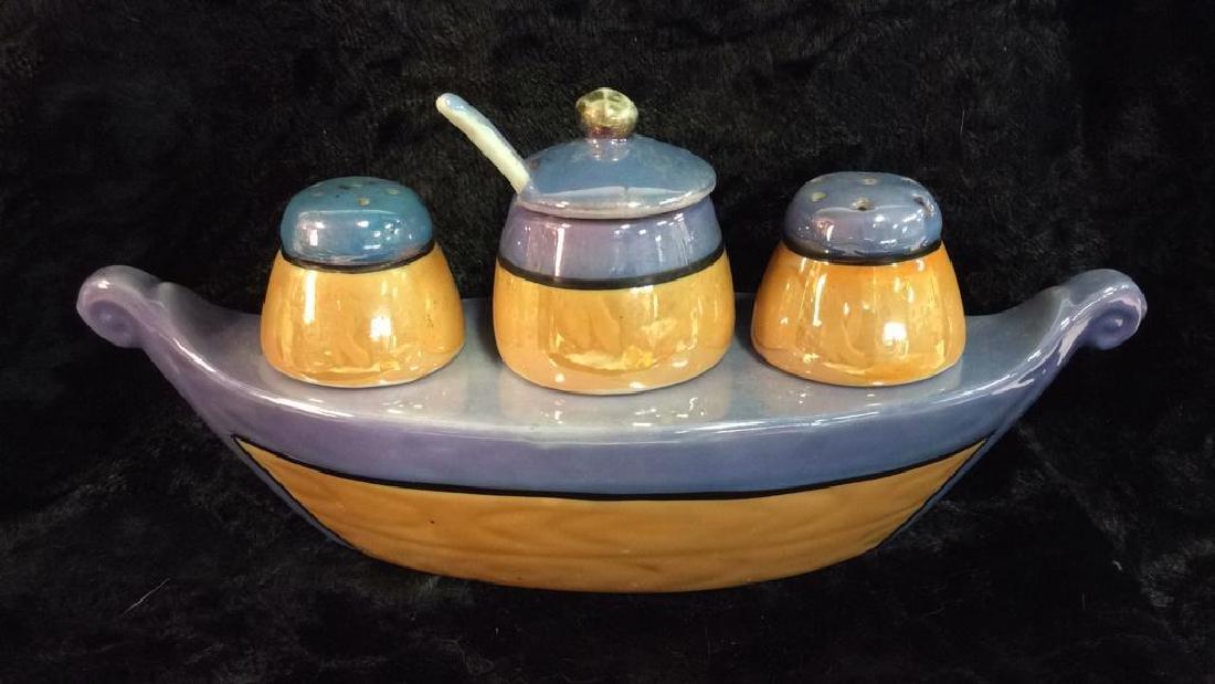 NIPPON Hand Painted Gondola Salt&Pepper Vessel