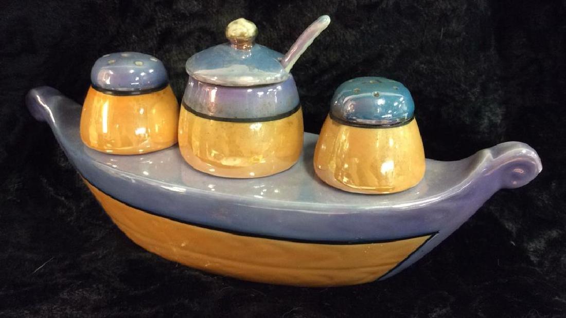 NIPPON Hand Painted Gondola Salt&Pepper Vessel - 3
