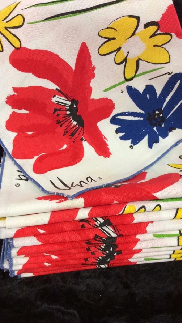 Lot 12 Vintage Vera Neumann Pop Art Cloth Napkins - 10