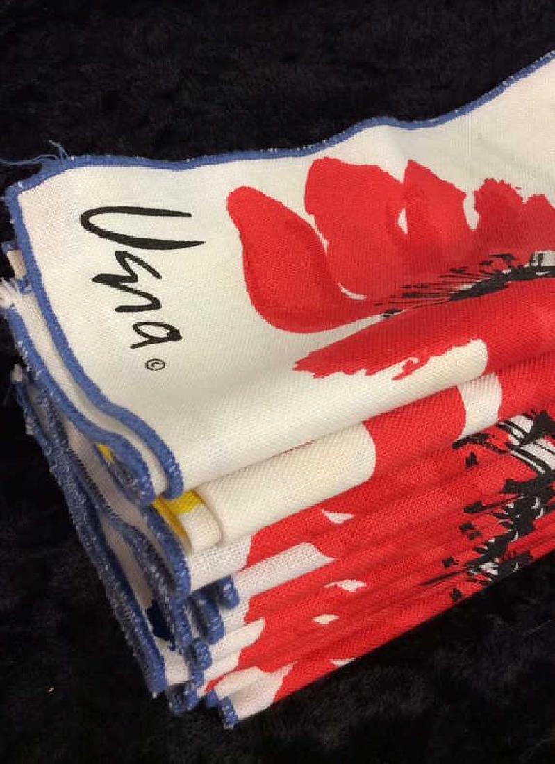 Lot 12 Vintage Vera Neumann Pop Art Cloth Napkins