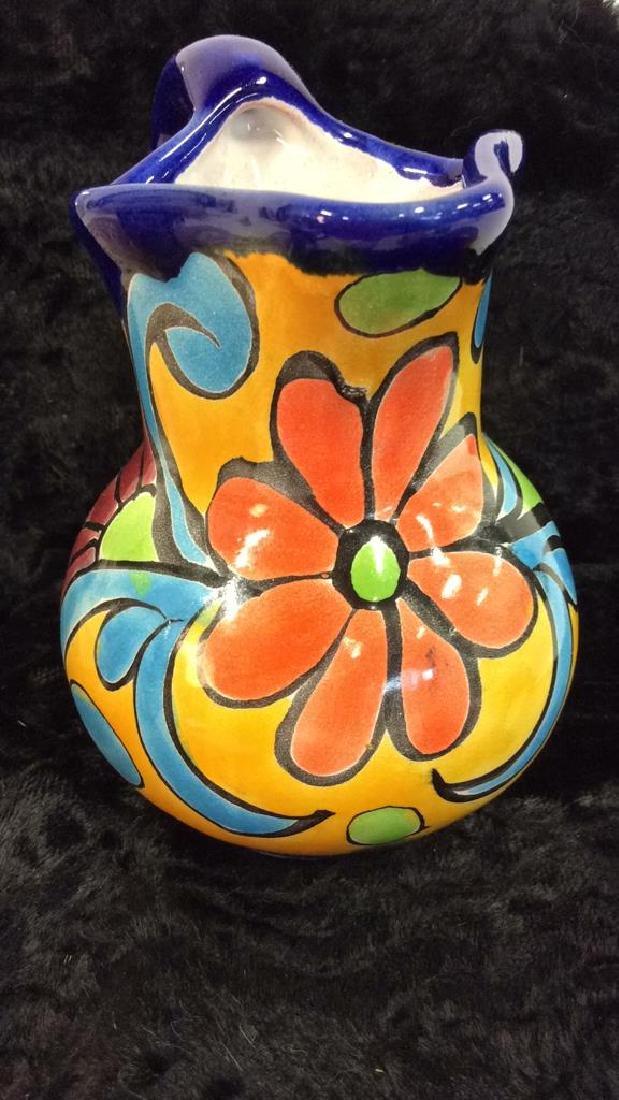 Porcelain Ceramic Italian Style Floral Pitcher - 2