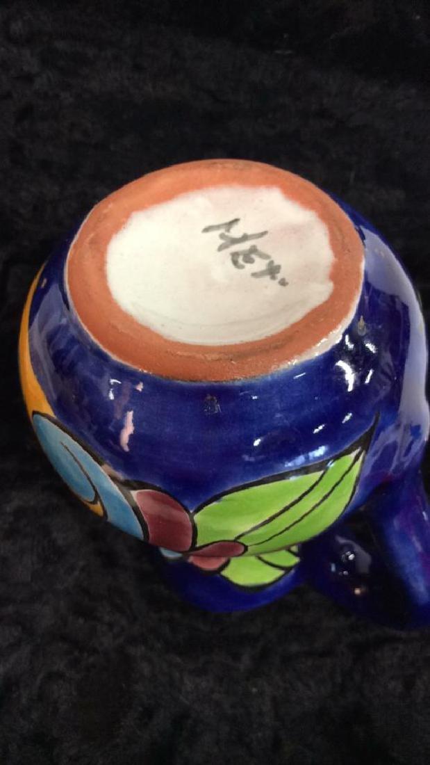 Porcelain Ceramic Italian Style Floral Pitcher - 5