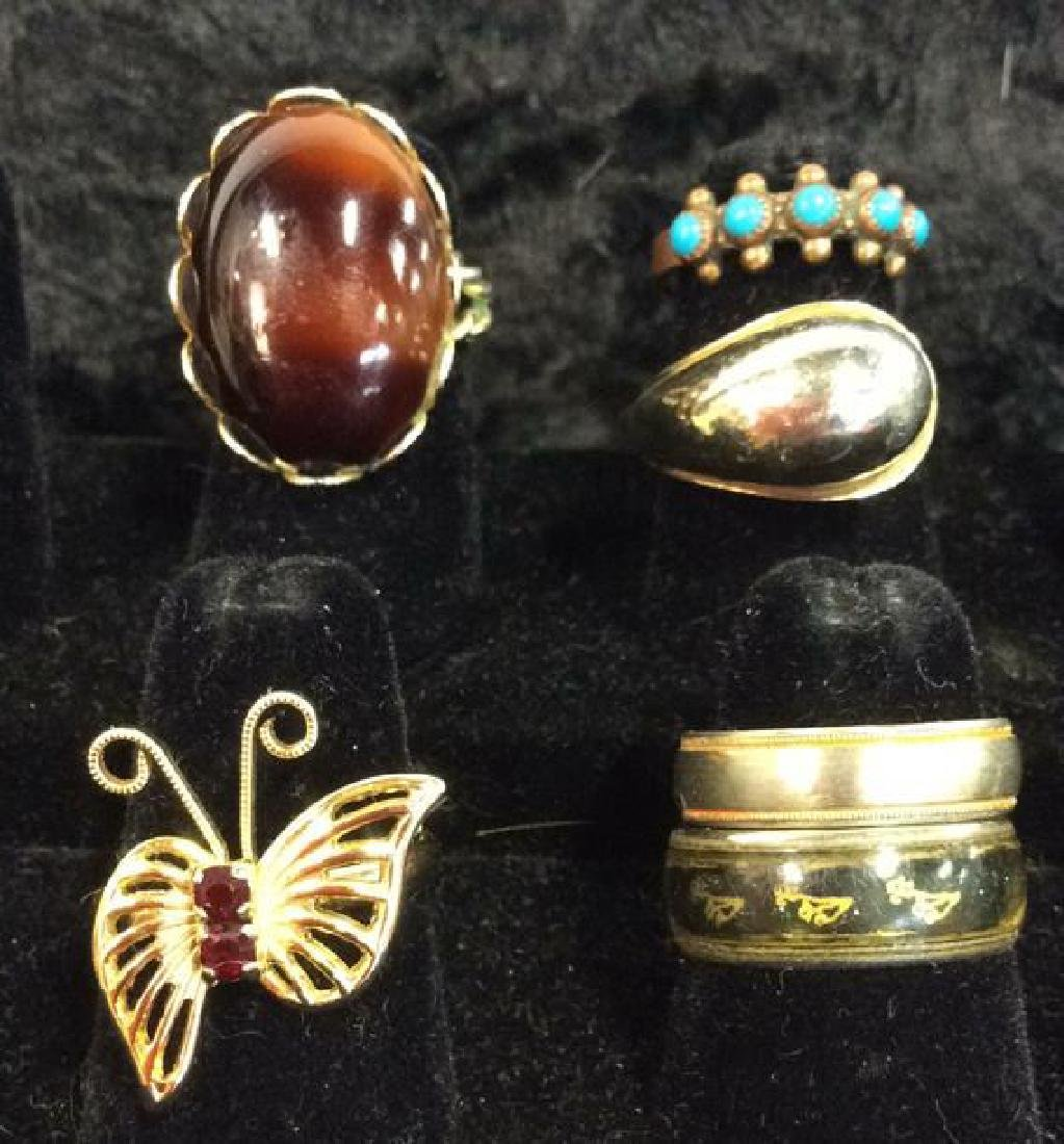 Lot 6 Assorted Costume Jewelry Rings