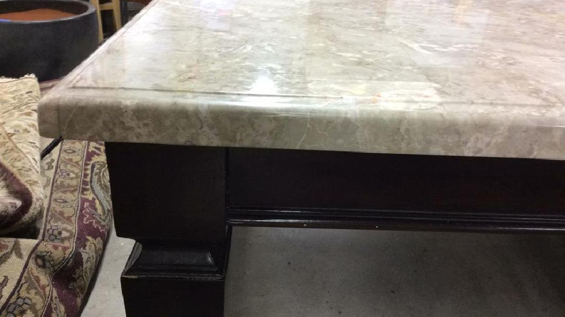 Marble Top Dining Table Kitchen Table - 10