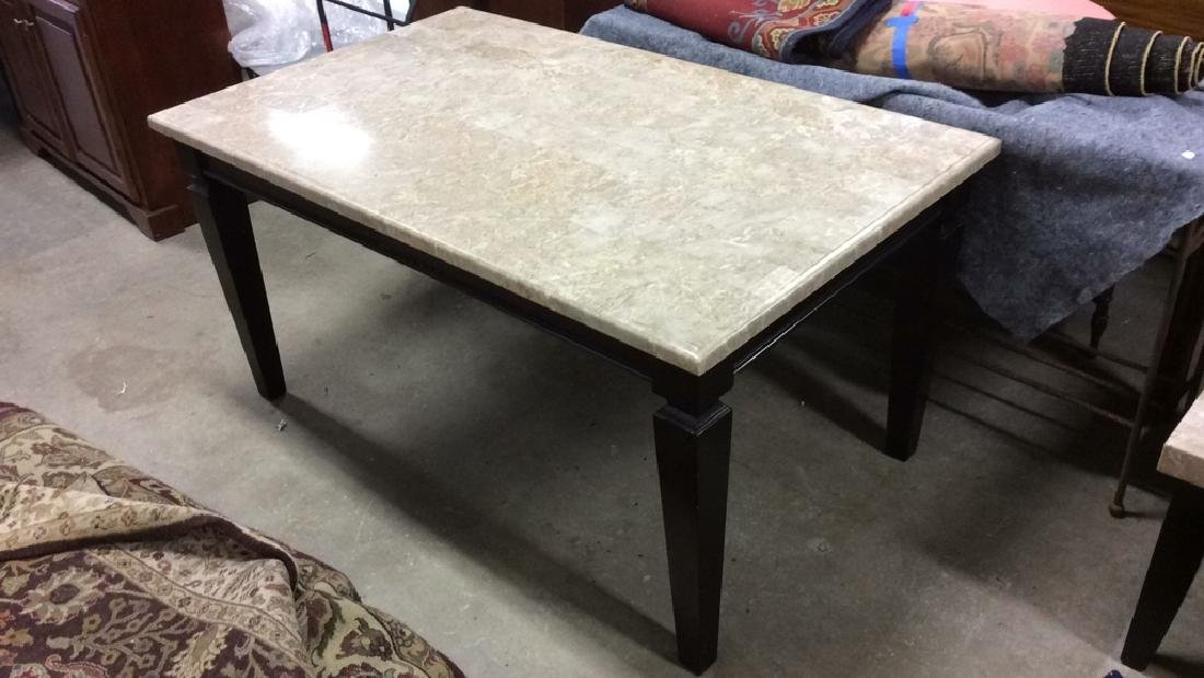 Marble Top Dining Table Kitchen Table - 2