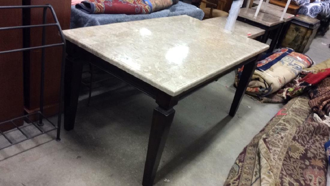 Marble Top Dining Table Kitchen Table - 3