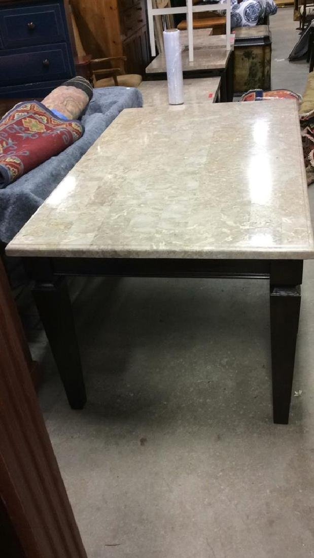 Marble Top Dining Table Kitchen Table - 4