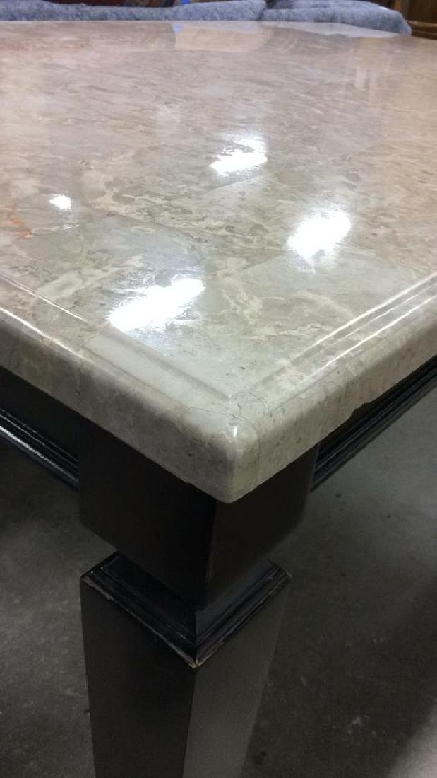 Marble Top Dining Table Kitchen Table - 5