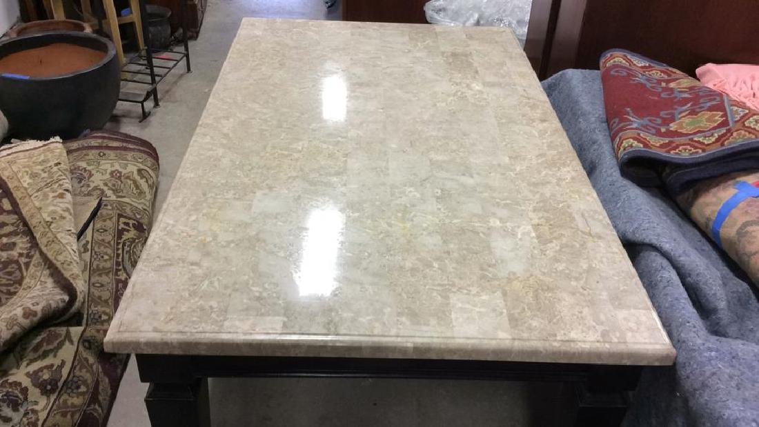 Marble Top Dining Table Kitchen Table - 8