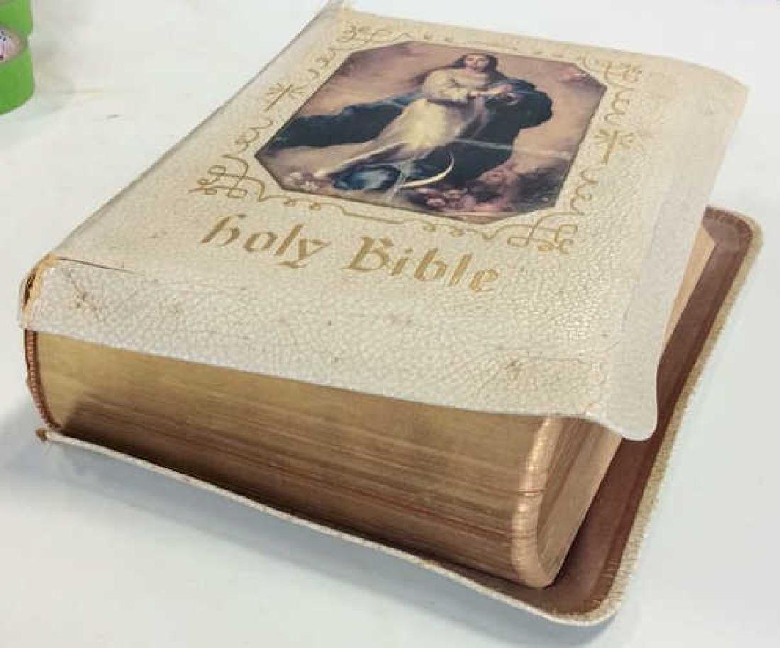 1958 Leather Illustrated Holy Bible