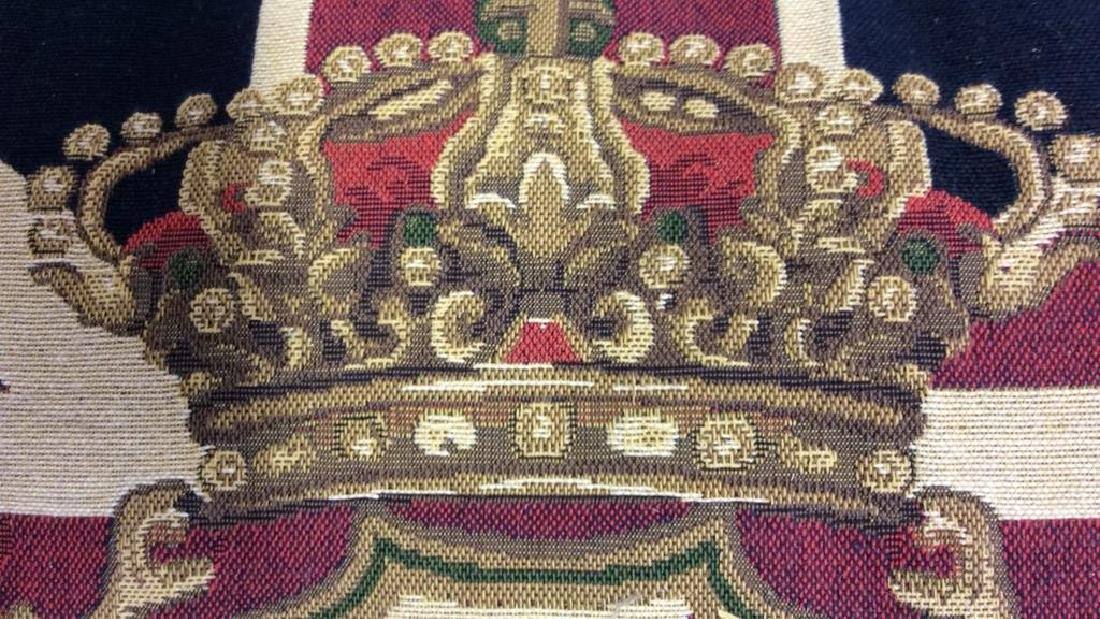 British Tapestry Style Lion Emblem Toss Pillow - 7
