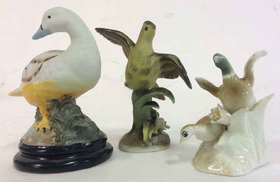 Lot 3 Ceramic Porcelain Bird Figurals