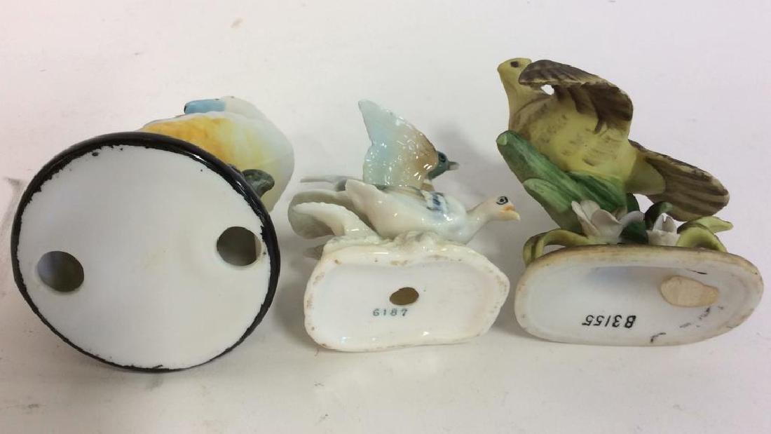 Lot 3 Ceramic Porcelain Bird Figurals - 6