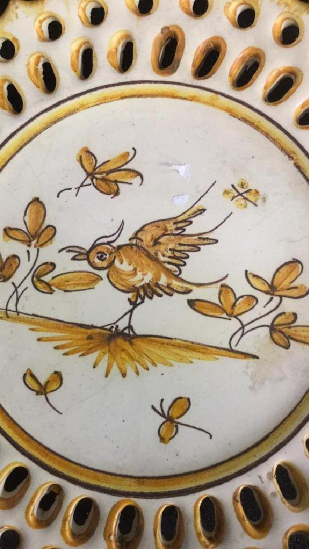 Pottery Bowl w 4 Pottery Plates - 10