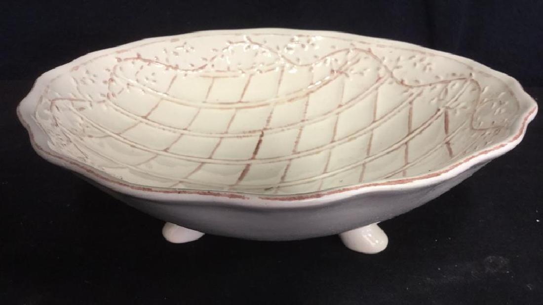Pottery Bowl w 4 Pottery Plates - 2