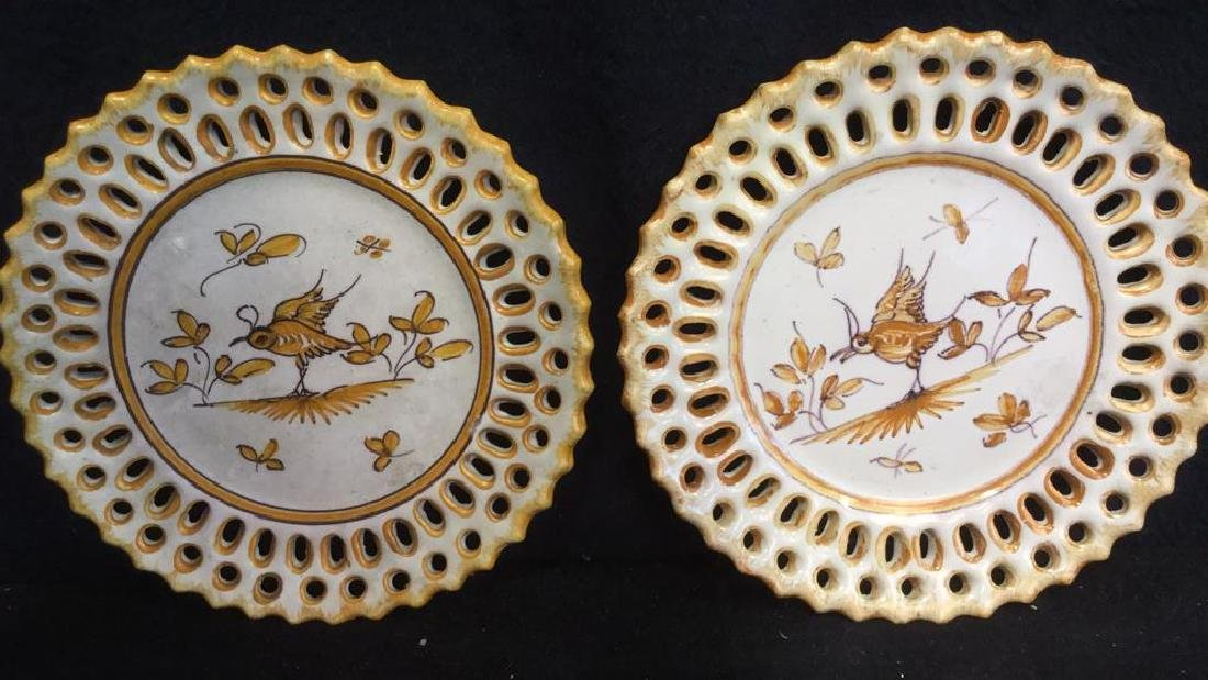 Pottery Bowl w 4 Pottery Plates - 5