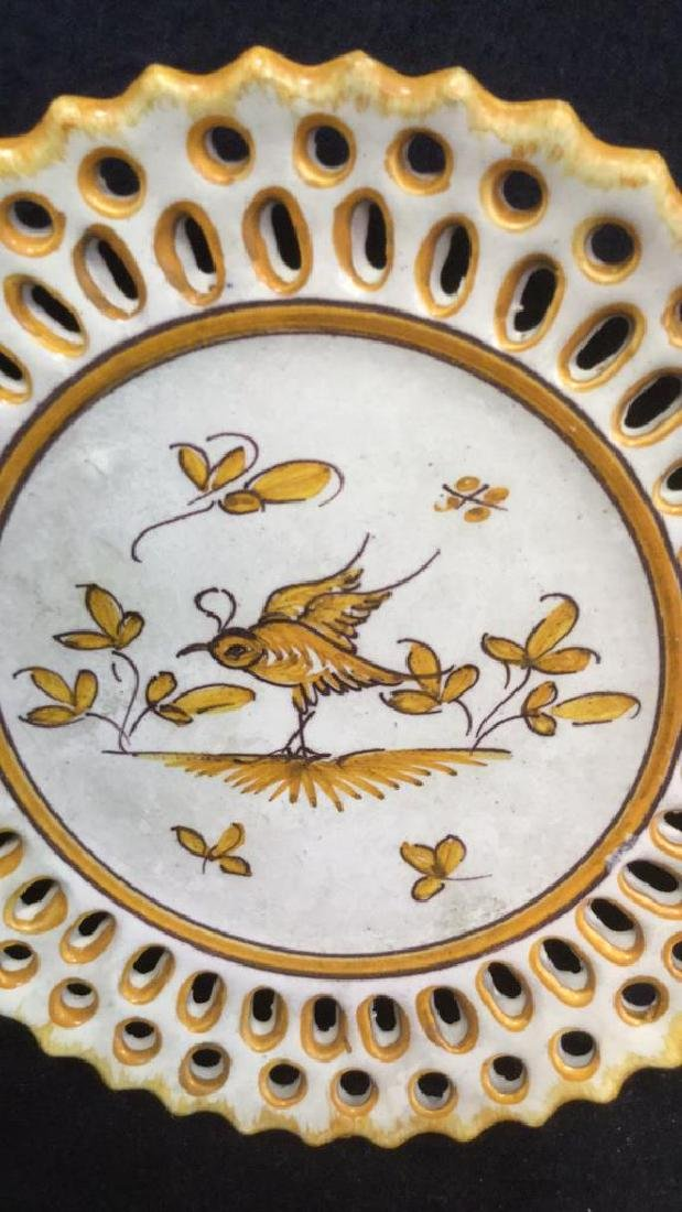 Pottery Bowl w 4 Pottery Plates - 6