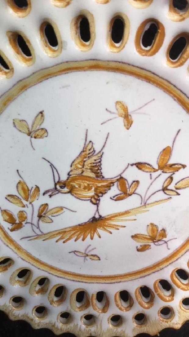 Pottery Bowl w 4 Pottery Plates - 7