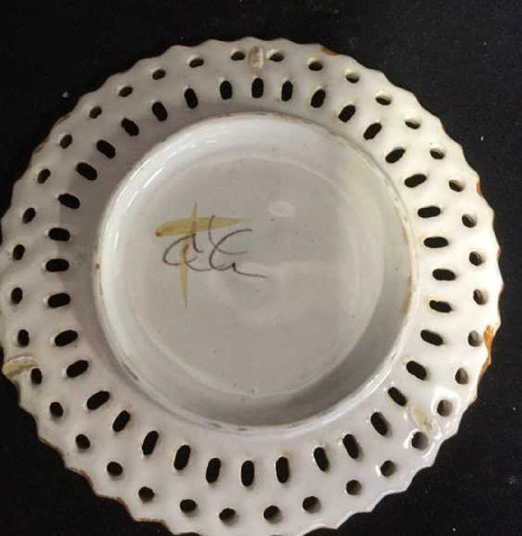 Pottery Bowl w 4 Pottery Plates - 8