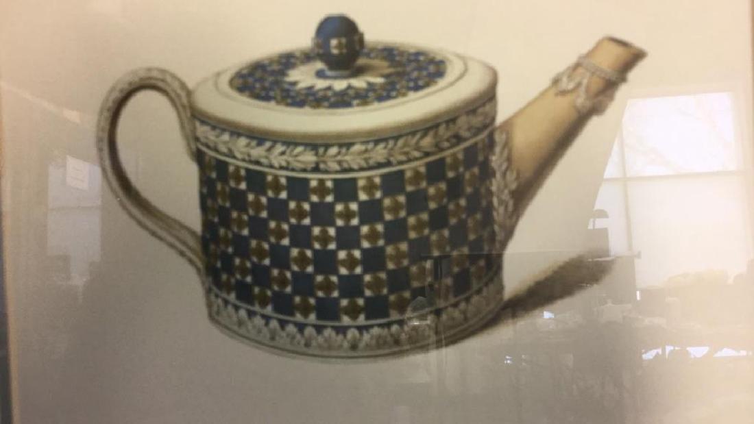 Pair Framed Prints Vintage Wedgewood Teapots - 10