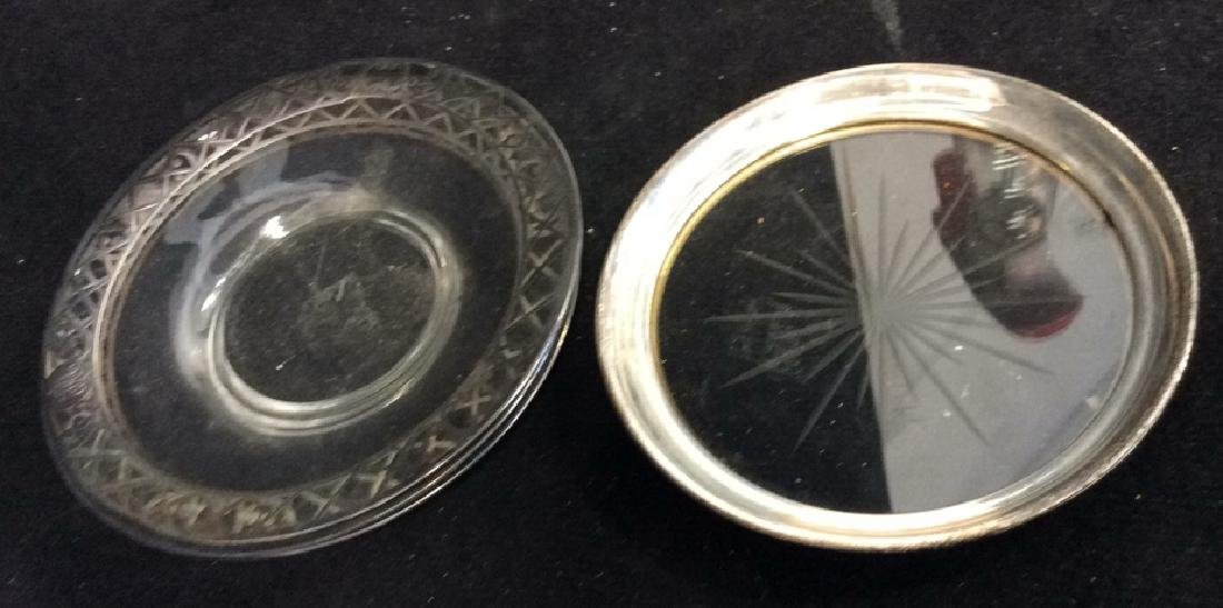 Lot 6 Assorted Glass Tabletop Accessories - 7
