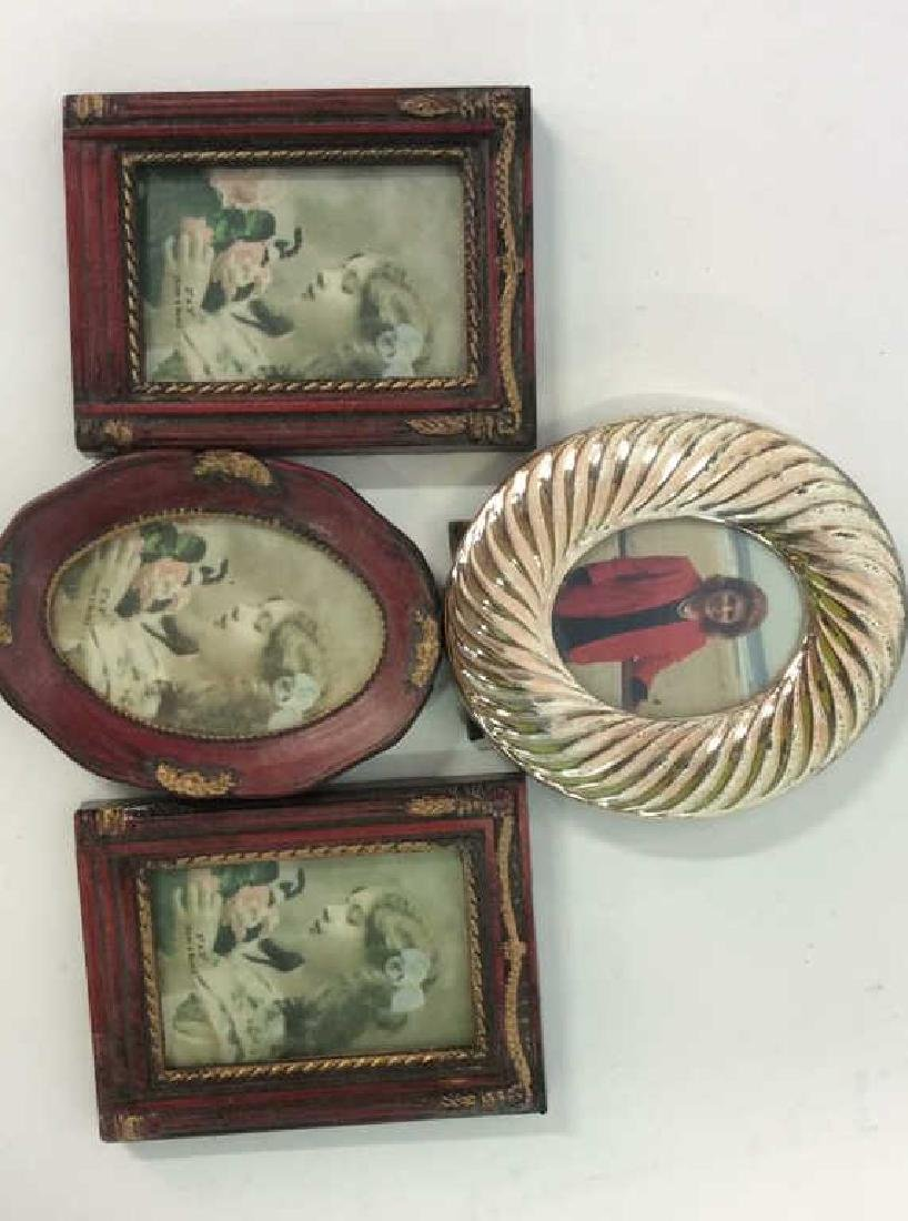 4 Vintage Picture Frames SP Swirl and wood