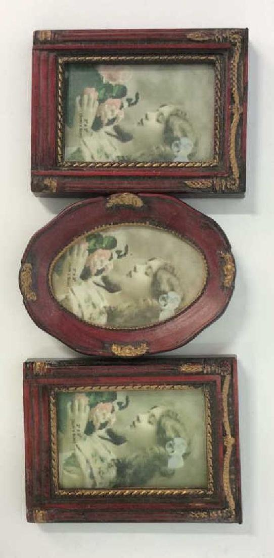4 Vintage Picture Frames SP Swirl and wood - 2