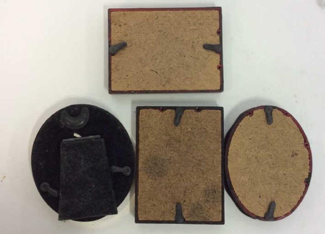 4 Vintage Picture Frames SP Swirl and wood - 8