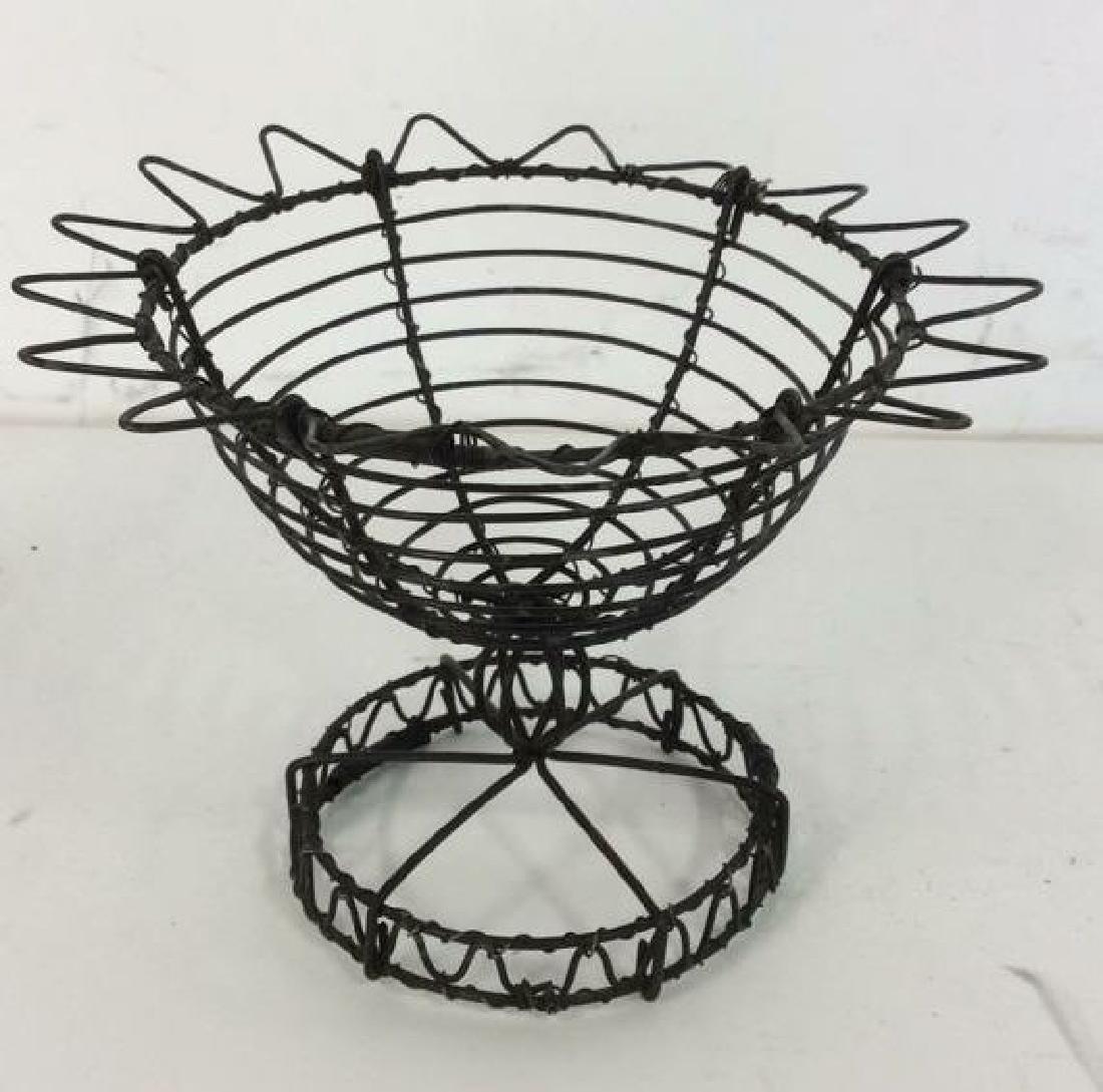 Vintage Hand Made Wire Egg Basket